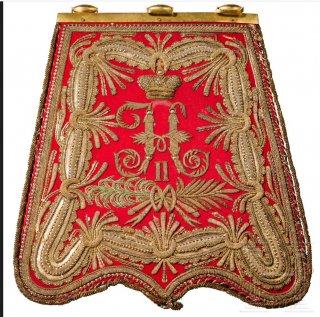 finely embroidered sabretache for hussar officers.jpg